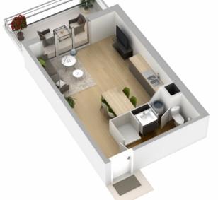 Appartement neuf de type T1  - Les Jardins de Trabacchina photo #1047